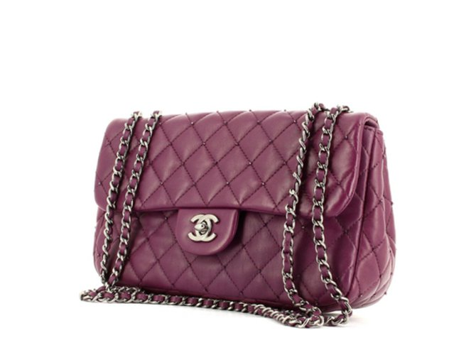 7b895a339197 Chanel Handbags Handbags Leather Purple ref.9423 - Joli Closet