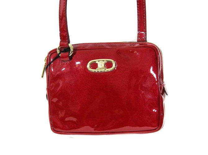 Céline Handbags Handbags Leather Red ref.9484