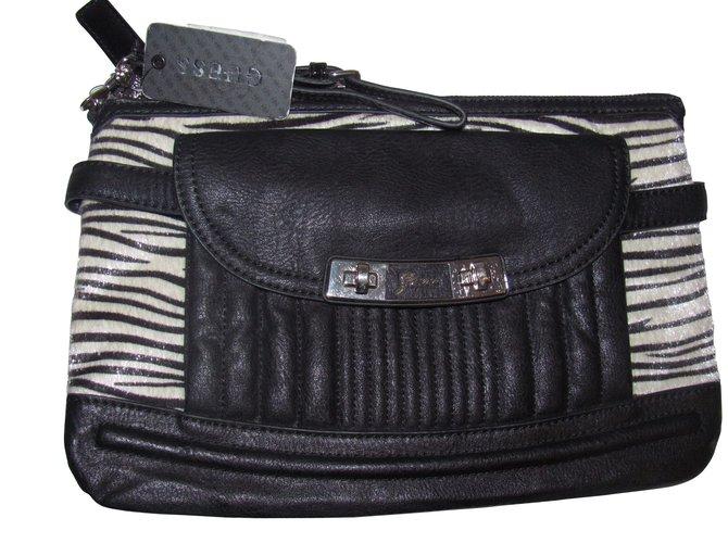 89882fffbf89 Guess Clutch bags Clutch bags Leather Zebra print ref.9508 - Joli Closet