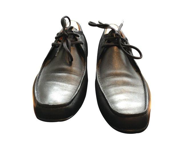 860f050bfa Derbies homme JM Weston Chaussures à lacets Cuir Noir ref.9601 ...