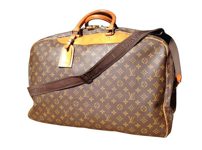 Sacs de voyage Louis Vuitton Alizé 3 poches Synthétique Marron ref.9650 f083ec26239