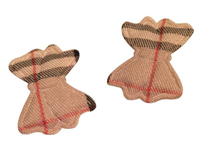 Chapeaux, bonnets, gants Burberry Barrettes Burberry Coton Caramel ref.9705