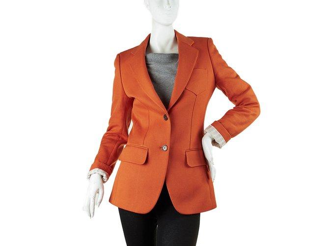 Chloé Jackets Jackets Cotton Orange ref.10264