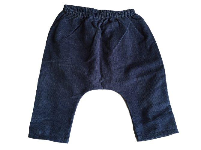 Pantalons fille Autre Marque Pantalons fille Louis Louise Coton Bleu ref.10578