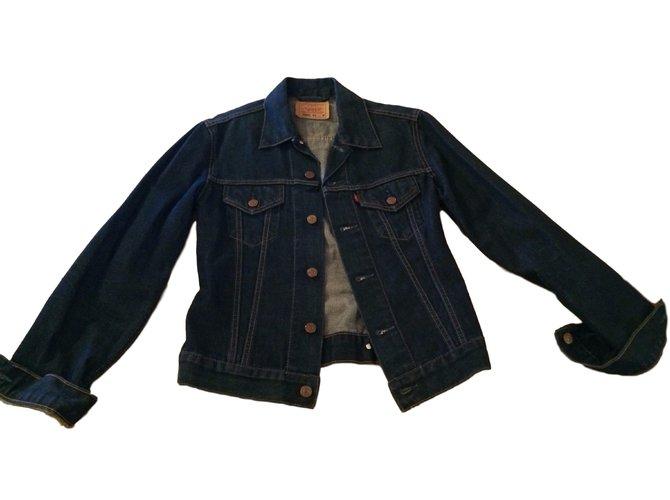 Veste jean levis femme cintree – Vestes élégantes populaires