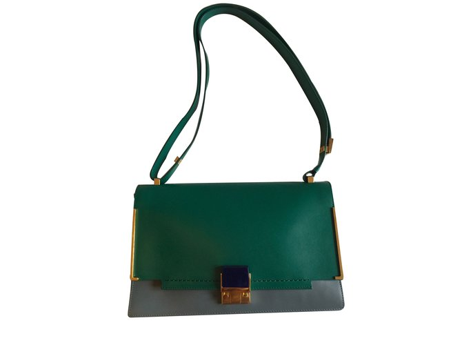 Lanvin Handbags Leather Green Ref 10774