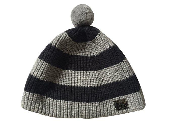 Chapeaux, bonnets, gants Burberry Les ensembles garçon Coton Gris ref.11098