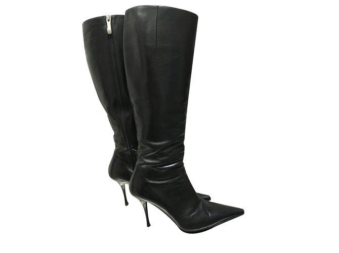 gianmarco lorenzi boots boots leather black ref 11119 joli closet rh jolicloset com