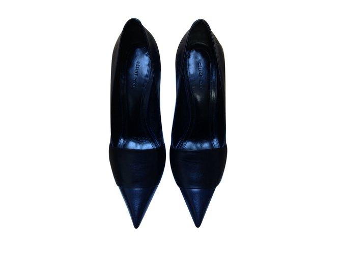 Céline Heels Heels Leather Blue ref.11169
