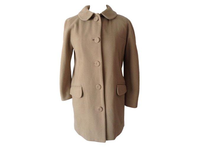 Chloé Coats, Outerwear Coats, Outerwear Wool Beige ref.11199