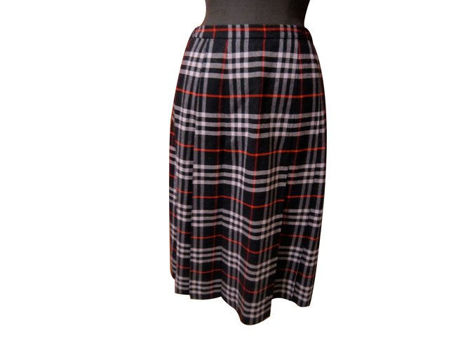 Burberry Skirts Skirts Wool Blue ref.11481