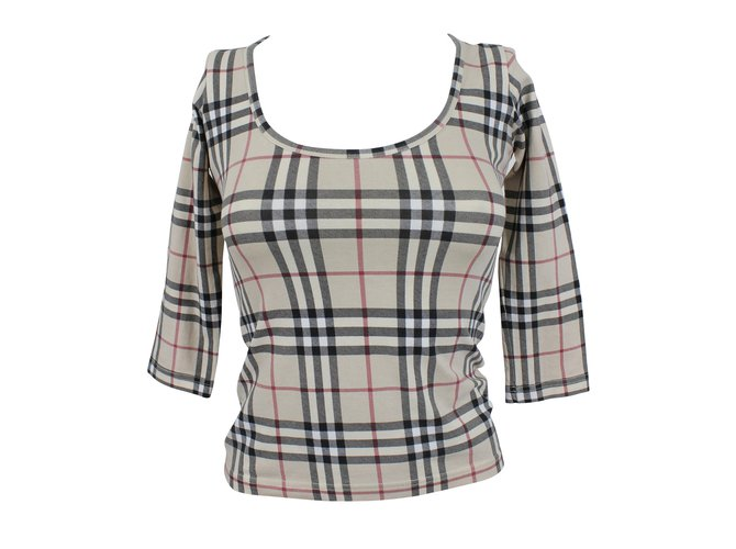 Burberry Tops Tops Cotton Black,White,Red,Mustard ref.11555