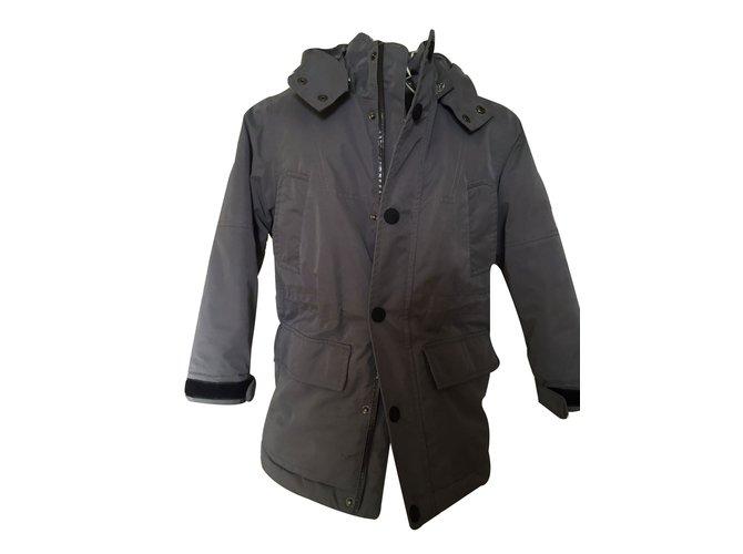 Burberry Coats Outerwear Boy Coats Outerwear Cotton Grey ref.11590