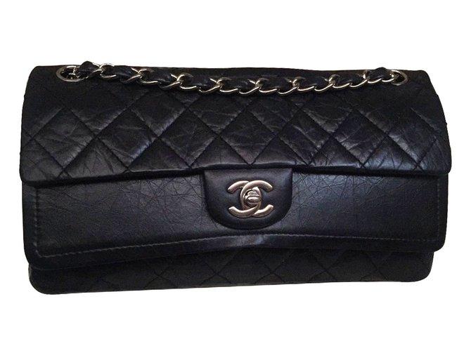 Sacs à main Chanel 2.55/ Timeless Cuir Noir ref.11602