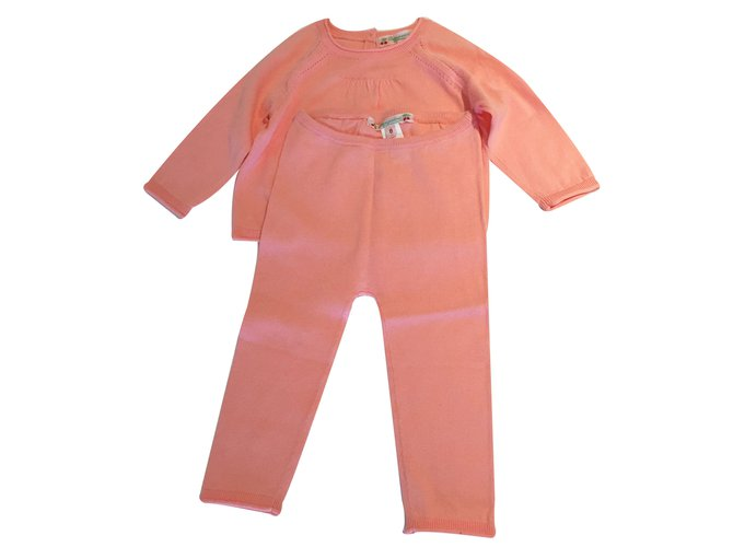 Les ensembles fille Bonpoint Ensemble fille Coton Orange ref.11886