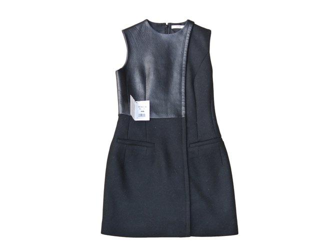 Céline Dresses Dresses Wool Black ref.11991