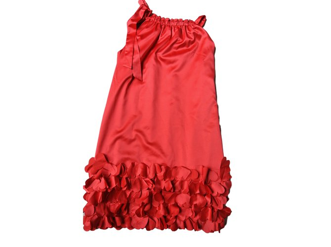 Monnalisa Dresses Red Polyester  ref.12090