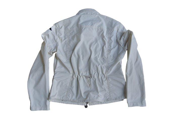 Vestes Moncler Vestes Polyamide Blanc ref.12192