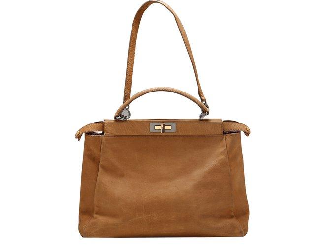 Fendi Handbags Leather Caramel Ref 12267