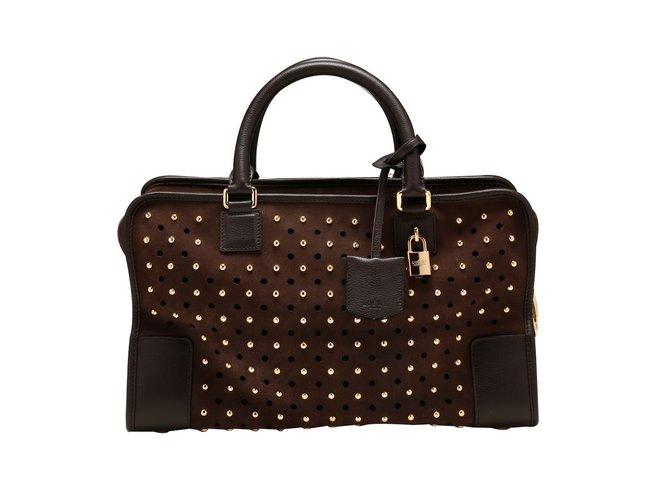 Loewe Handbags Leather Brown Ref 12284