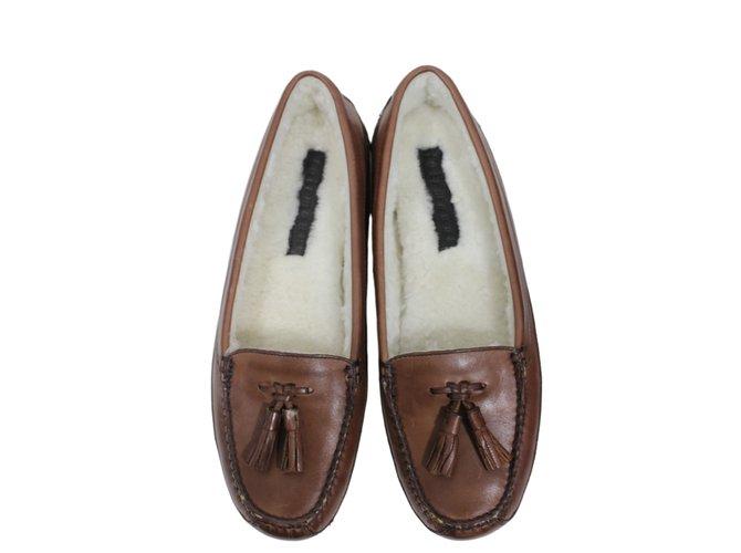 Fairmount Flats Brown Leather  ref.12445