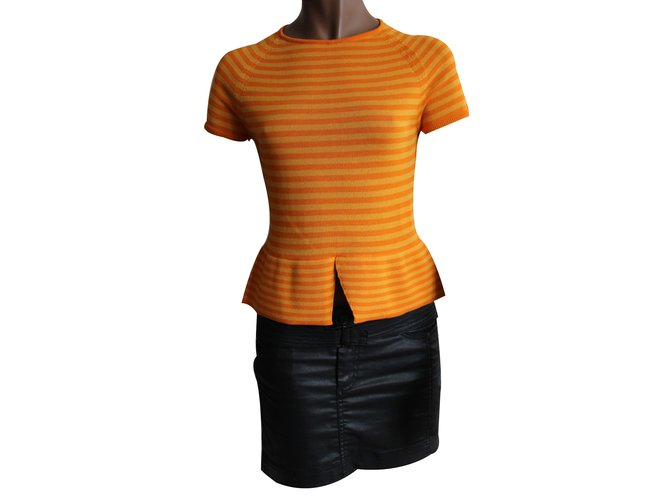 Piazza Sempione Knitwear Orange Cotton  ref.12451