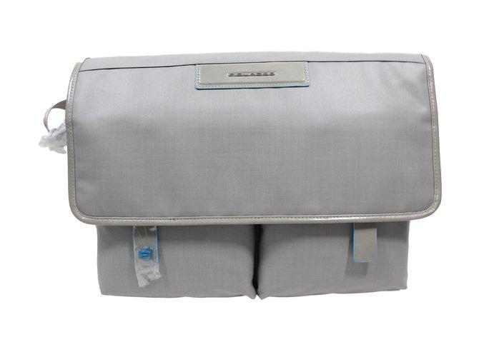 Autre Marque Bags Briefcases Bags Briefcases Cloth Grey ref.12474