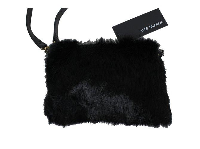 Yves Salomon Handbags Handbags Fur Black ref.12483