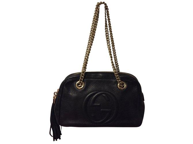 175e071b956a Gucci, Handbags. $1,012. Add to my wishlist. Gucci Soho Leather black ...
