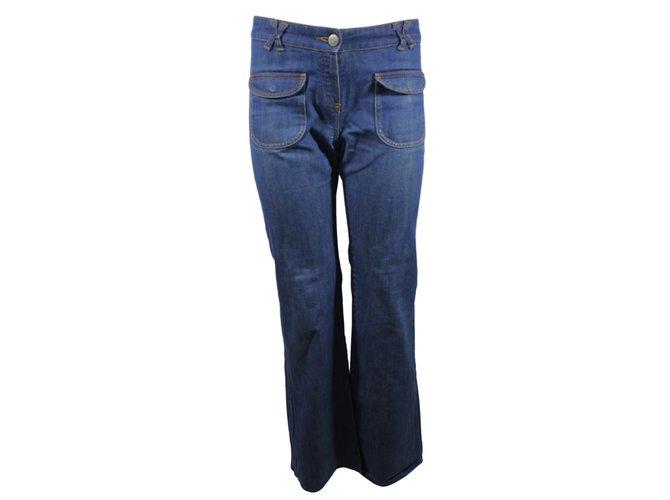 Chloé Pants, leggings Pants, leggings Cotton Blue ref.13225