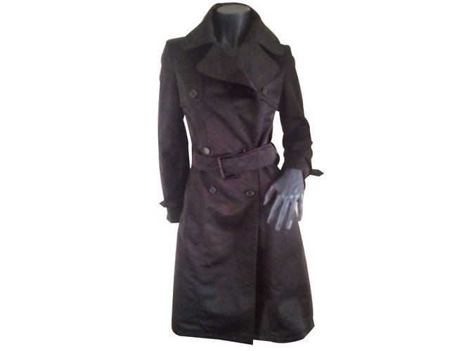 Burberry Coats, Outerwear Coats, Outerwear Polyester Black ref.13729