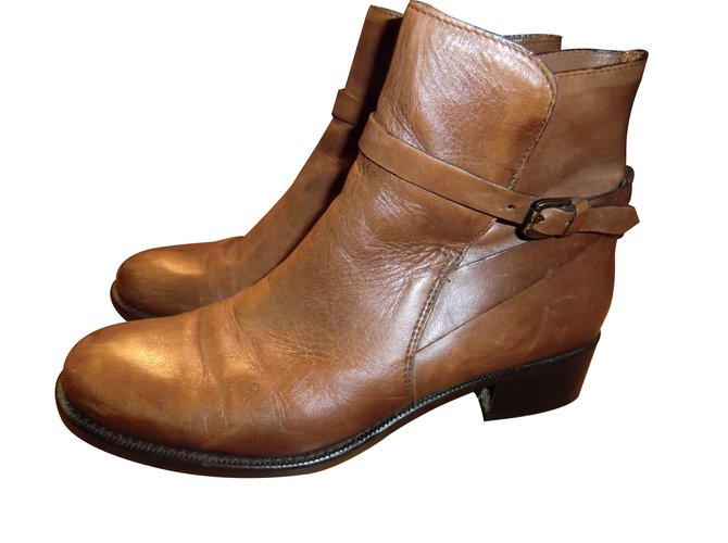 bf46ec4bf377d Vero Cuoio Ankle Boots Ankle Boots Leather Caramel ref.13755 - Joli ...