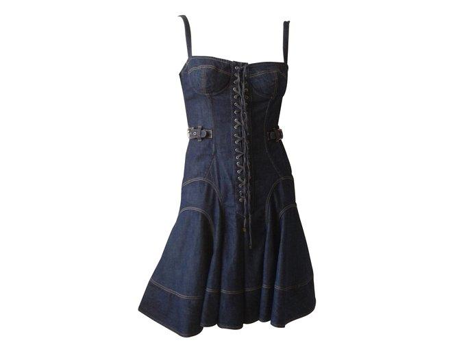 54649d2a629 Robes Dolce   Gabbana Robe bustier Jean Bleu ref.13830 - Joli Closet