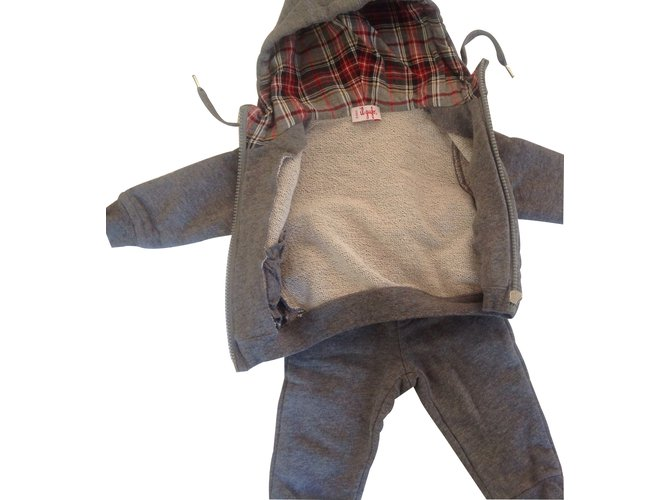 Il Gufo Outfits Outfits Cotton Grey ref.14047