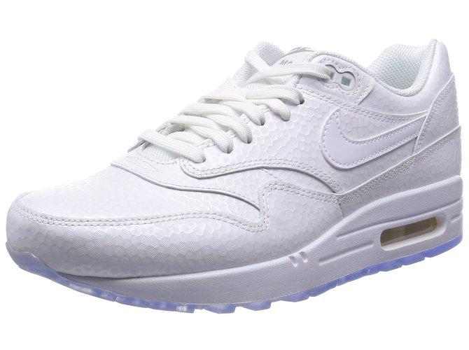 Baskets Nike air max 1 Caoutchouc Blanc Joli Closet