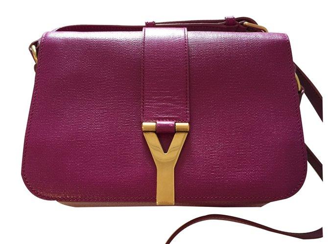 Yves Saint Laurent Handbags Handbags Leather Pink ref.14232 - Joli ... b567e0884a3e7