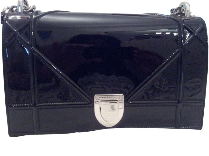 Dior Handbags Handbags Varnish Black ref.14261