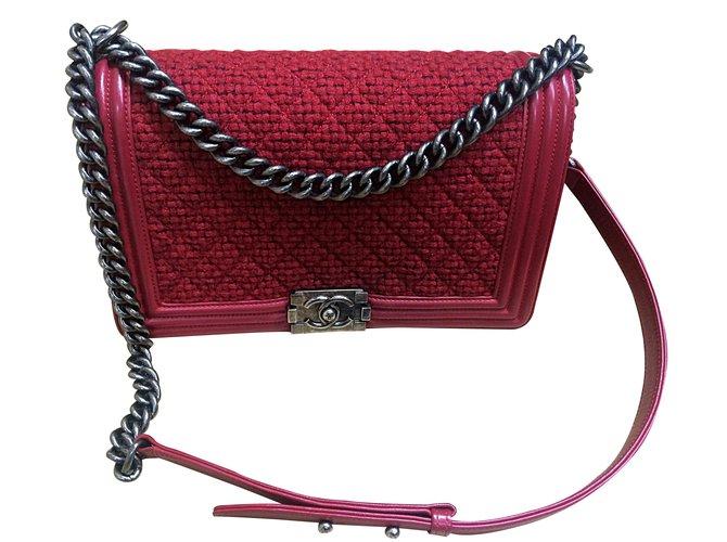 0b9af4127a13 Chanel Handbags Handbags Leather Red ref.14456 - Joli Closet