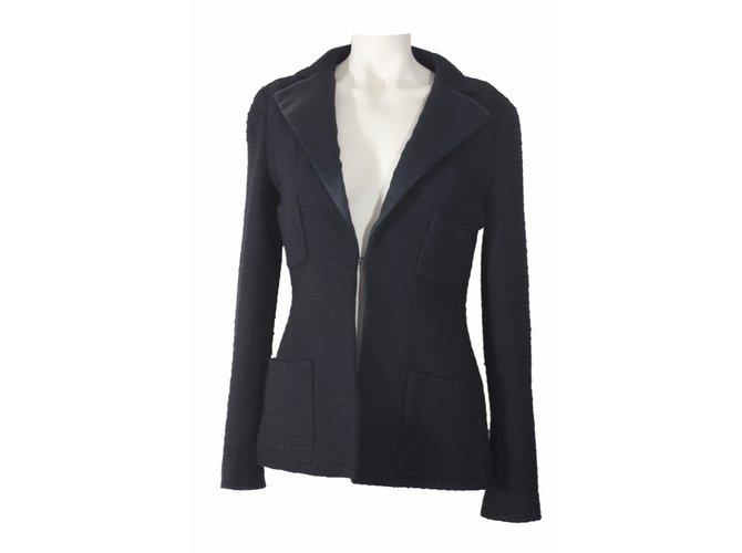 Chanel Jackets Jackets Wool Black ref.14514