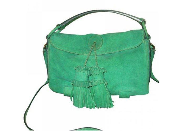 Yves Saint Laurent Handbags Handbags Deerskin Green ref.14719 - Joli ... 9046e2b056