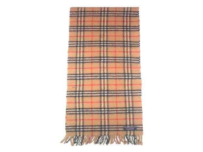 Echarpes homme Burberry ècharpe écossais Laine Beige ref.14735 ... a83f78aa218