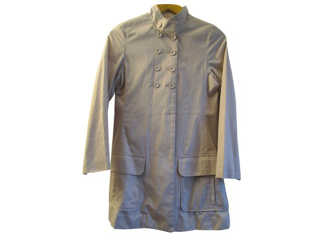 Chloé Trench coats Trench coats Cotton Beige ref.14990