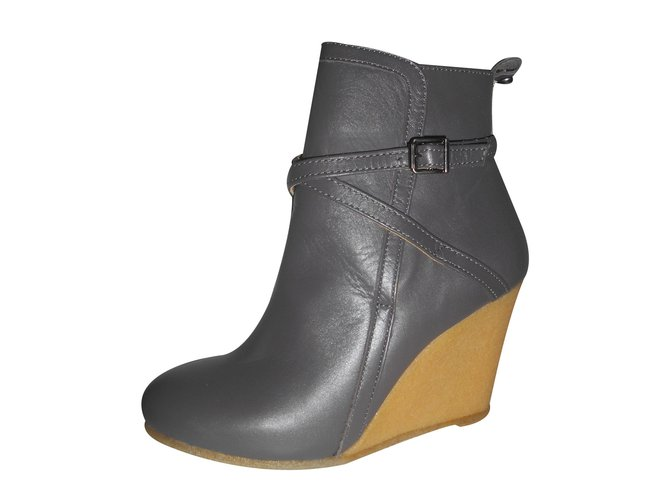 e0d6f467073001 Paul   Joe Sister Ankle Boots Ankle Boots Leather Grey ref.15065 ...