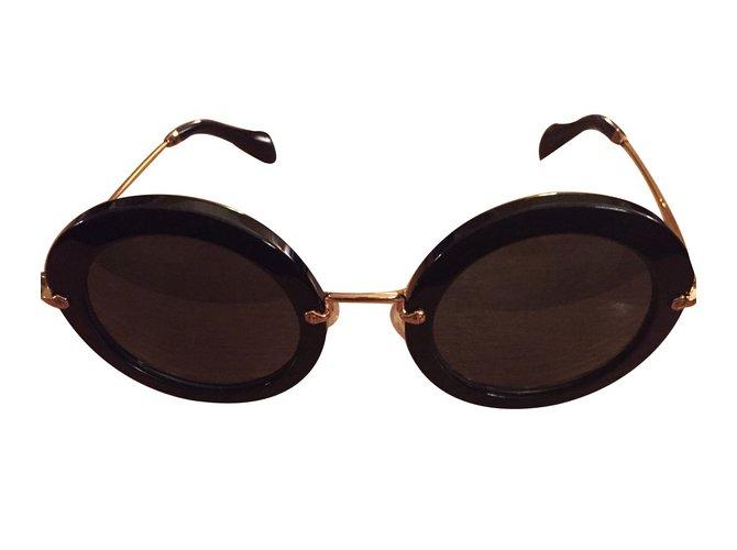 cdaf9081af Miu Miu Sunglasses Sunglasses Steel Black ref.15125 - Joli Closet