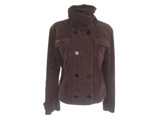 Burberry Jackets Jackets Cotton Brown ref.15147