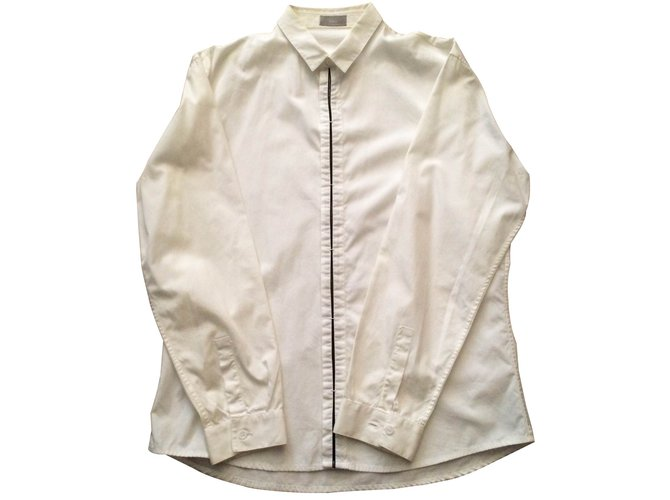Chemises Dior Chemise Dior Homme Coton Blanc ref.15211 - Joli Closet e45df6e724b