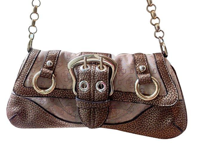 fc93ce378a Guess Clutch bags Clutch bags Cloth Beige ref.15250 - Joli Closet