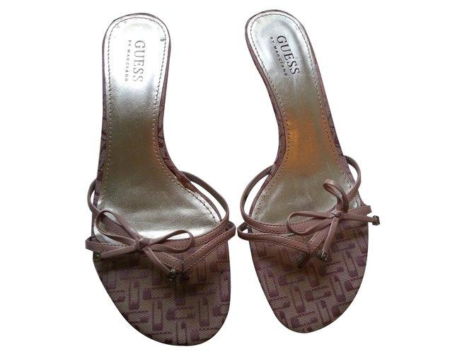 ae53a6e8df520 Guess Sandals Sandals Leather Pink ref.15329 - Joli Closet