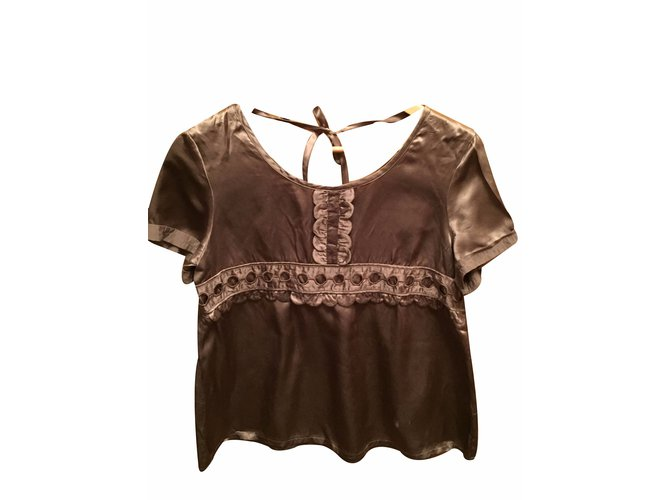 Tops Bel Air Tops Soie Taupe ref.15421