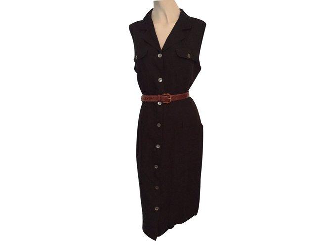 3523e80e60b Robes Pennyblack Robe Lin Noir ref.15714 - Joli Closet